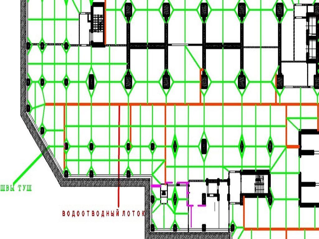 Схема нарезки швов ТУШ